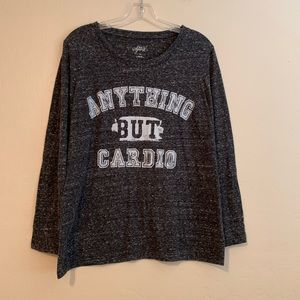 Style & Co Sport fun gray marled athleisure top